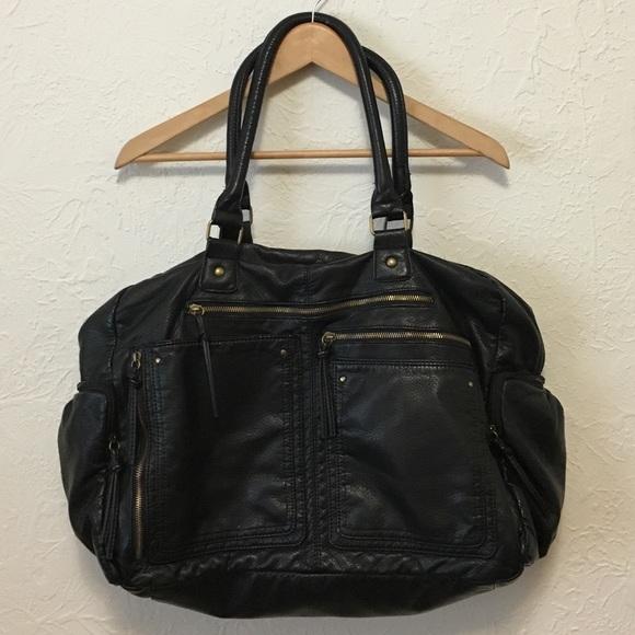 Bueno Handbags - Bueno Black Vegan Leather Bag